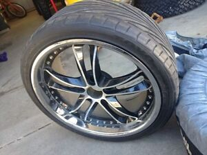 "(4) 19"" BMW Mag rims with Toyo rubber"
