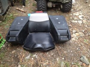 ATV passenger seat with cargo components 4 sale!