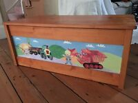 Bob the Builder Wooden Toy Box - hand painted and unique