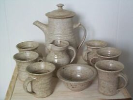 9 piece chunky earthenware coffee set