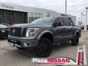 "2018 Nissan Titan PRO-4X 4"" Lift Kit, 20x9"" LRG Wheels, MTZP3..."