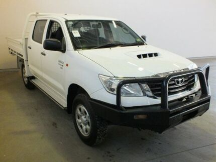 2014 Toyota Hilux KUN26R MY12 SR (4x4) Glacier White 5 Speed Manual Dual Cab Chassis Westdale Tamworth City Preview