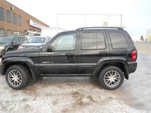 2002 Jeep Liberty Limited\LEATHER\4WD\CLEAN CARFAX\SOLD