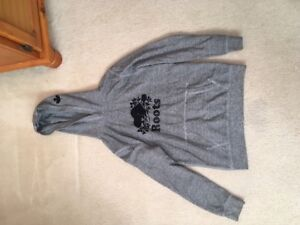 girls roots salt and pepper hoodie size xxl/13 14