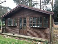 Log Cabin / Summer House / Garden Office Apx 6.75m x 3.71m