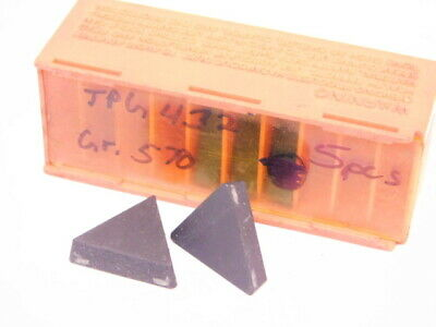 New Surplus 5pcs. Carboloy Tpg 432 Grade 570 Carbide Inserts