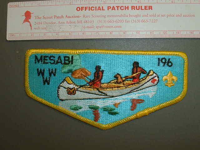 Boy Scout OA 196 Mesabi flap 7527J