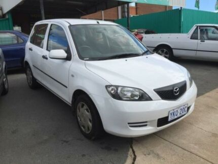 2004 Mazda 2 DY Neo White 5 Speed Manual Hatchback Phillip Woden Valley Preview
