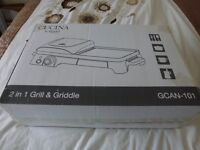CUCINA 2 in 1 GRILL & GRIDDLE--- NEW & BOXED