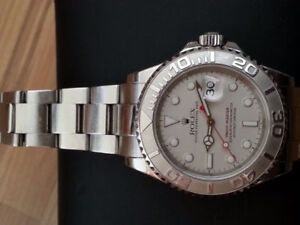 ROLEX YACHT MASTER PLATINE 10'000$ OR EXCHANG