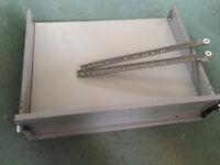 Steel/wood drawer