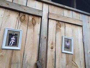 Rustic Wedding Decorations - frames, chalkboards, wood boxes
