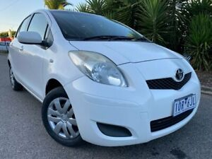 2010 Toyota Yaris NCP90R 10 Upgrade YR White 4 Speed Automatic Hatchback Hoppers Crossing Wyndham Area Preview