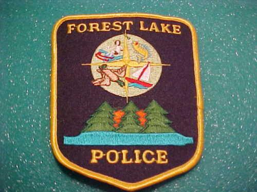 FOREST LAKE MINNESOTA POLICE PATCH SHOULDER SIZE UNUSED