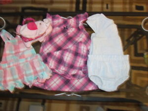 ONE AND 2 PIECE OUTFITS/BIBS