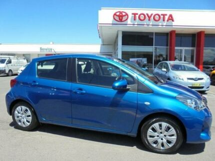 2014 Toyota Yaris NCP130R YR Tidal Blue 4 Speed Automatic Hatchback