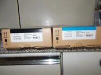 Brand new EPSON inks genuine T6871x 21un Black/ T6872x 12un