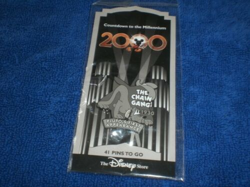 Disney Store 1999 Countdown to the Millennium Series PLUTO CHAIN GANG # 42 Pin