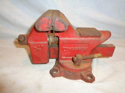 Vintage Companion 3 12 Bench Vise With Anvil Swivel Base Pipe Jaws