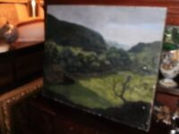 an original oil on canvas painting littendale above arncliffe north yorkshire dales/national park