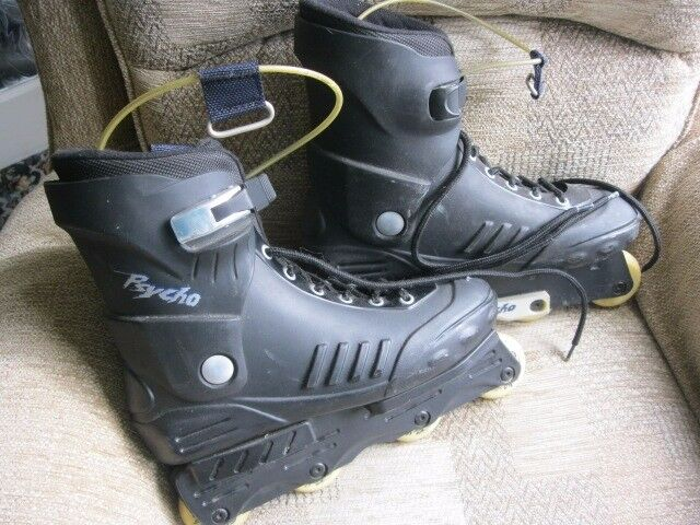 Inline rollerblades .... Psycho size 10 in-line aggressive grinding roller blades