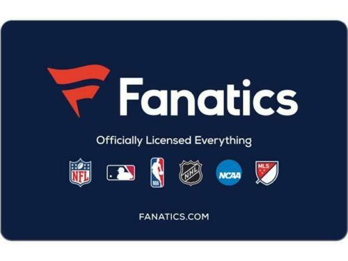 Fanatics $75 Value Discounted Pre-Owned Gift Card Printout