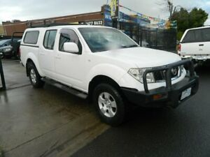 2010 Nissan Navara D40 ST (4x4) White 6 Speed Manual Dual Cab Pick-up Williamstown North Hobsons Bay Area Preview