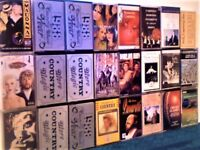 24 TAPES FOR £10, CHART MAKERS, C&W, OPERA, SPORT, BIRD CALLS, JOB LOT OR PICK & MIX CASSETTE TAPES.