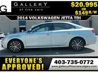 2014 Volkswagen Jetta TDI DSG $149 bi-weekly APPLY NOW DRIVE NOW