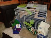 Selling hamster cage with everything for it