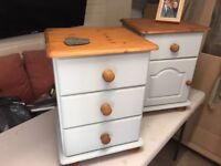 Renovated bedside cabinets