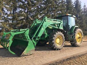 John Deere 8300 w/840 loader (optional)