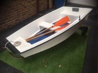 8ft Glass Fibre Rowing Boat