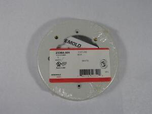 Wiremold 2338A-WH Round Fixture Box  White NEW Solid Base 5 1/2""