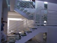 Metal stairs, floting staircase and fire exit stairs