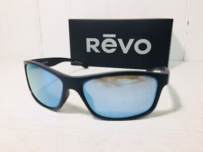 REVO RE4071 11 BL HARNESS Matte Black w/ Blue Water POLARIZED Lenses Suns (Polarized Sun Lenses)