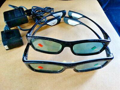 2 GENUINE Samsung SSG-3300GR Rechargeable 3D Active Glasses Kit