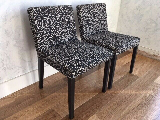 2 Upholstered Chairs suitable either for a dining table or ...