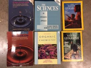 Free text books and National Geographic Magazines