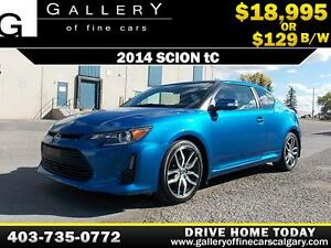 2014 Scion tC Coupe $129 bi-weekly APPLY NOW DRIVE NOW