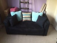 Blue sofa bed in navy blue good condition £50