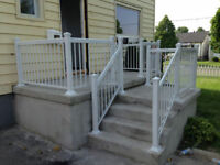 Contact us today for Aluminum railings $35/f supply and install