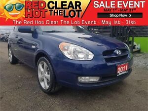2011 Hyundai Accent SE Sport CERTIFIED! ACCIDENT FREE! WARRANTY!
