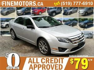 2012 FORD FUSION SE * POWER ROOF * LOW KM * CAR LOANS FOR ALL London Ontario image 1