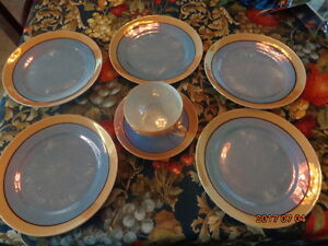 Japan Lustreware:  Includes 5 Plates & 1 Cup and Saucer