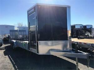 Galvanized Landscape Trailer with Enclosed Front