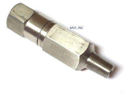 14 Inline Check Valve 6000 Mxf Npt 316 Stainless Steel 2 Psi Cracking 2er81