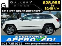 2012 Jeep Grand Cherokee 4x4 $249 Bi-Weekly APPLY NOW DRIVE NOW