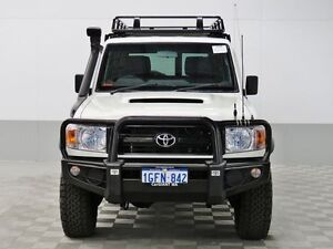 2012 Toyota Landcruiser VDJ76R MY12 Update Workmate (4x4) White 5 Speed Manual Wagon Morley Bayswater Area Preview