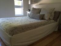 Base et tête de lit double & matelas